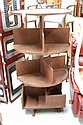 Le Forge revolving open book shelf, multi tiered,