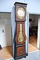 Antique French comtoise long case clock