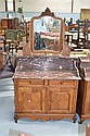 Antique French Louis XV marble topped washstand