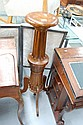 Unusual antique French turned and fluted wood