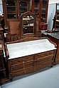 Antique French marble inset washstand, with faux