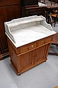 Vintage French marble topped washstand cabinet