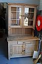 Two height antique pine kitchen dresser