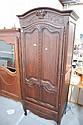 Antique French Louis XV single door armoire. 204cm
