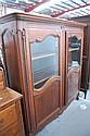Antique French Louis XV style Walnut vitrine,