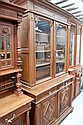 Antique French Henri II carved oak bookcase, 250