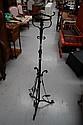 Wrought iron telescopic standard lamp