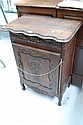 French Louis XV style carved oak corner cupboard.