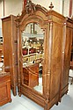 Antique French Rosewood armoire. 242cm h x 111cm w
