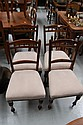 Four Edwardian side chairs (4)