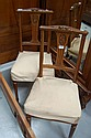 Antique French Walnut chairs (2)