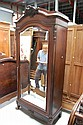 Antique French Louis XV rosewood armoire