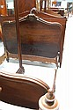 Antique French Louis XV rosewood bed