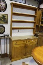 Antique style pine dresser, approx 200cm H x 120cm W x 42cm D