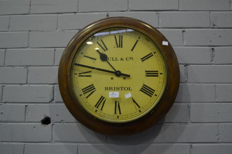 Bull Amp Co Bristol Wall Clock No Key Approx 50cm Diameter