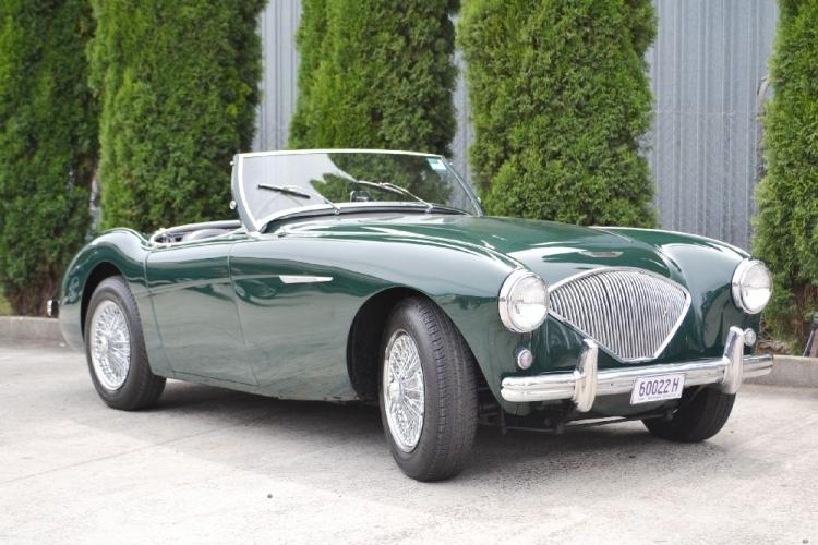 1954 Austin-Healey 100 BN1 Chassis – BN½19267 Engine – 1B/219267 Body - 1965/5191 Launched to great acclaim at the 1952 Earls Court Motor Show in London, the Healey 100 literally overnight became the Austin-Healey 100 following a handshake deal between Donald Healey and Leonard Lord of the British Motor Corporation. Production started at Austin's Longbridge factory in May 1953 and carried through until August 1955 when the 100 BN2 was released. In total 10,010 Austin-Healey 100 BN1s were built, of which just over 1,000 were imported into Australia. While precise figures are not known, it is thought that there are less than half that left in the country which includes a number of more recent imports from the US. The Austin-Healey 100 BN1 was powered by Austin's 2,660cc four-cylinder engine that developed 90bhp and 144lb/ft. of torque. Fitted with twin SU carburettors and driving through a three-speed gearbox and electrically operated overdrive, the car in standard form had a top speed of 106mph.Following the end of Austin-Healey 100 production in 1956, the six-cylinder 100/6 was released after which the Austin-Healey 3000 in its various guises was produced until late 1967. This 1954 Austin-Healey 100 BN1 was sold new in Melbourne during December of that year. The Austin-Healey proved to be popular for racing and the middle 1950s saw this car being raced at Albert Park, Phillip Island and Fisherman's Bend as well as many Victorian hill climb venues. In late 1961 it was purchased by a gentleman from southern New South Wales and during his ownership it received little use until it was sold again in 2012. Since then it has received a bare metal respray along with the rebuilding of many components such as the engine, gearbox, suspension and brakes. Since the early 1990s the prices of Austin-Healeys has remained buoyant and of late have escalated significantly. The early cars with their cleaner, more aesthetic styling have proved to be highly popular. To drive an Austin-Healey, while taking you back to a different era is an experience as their performance is exciting to say the least compared with the climate controlled cars of today. Just perfect for that Sunday morning coffee run