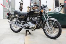 1974 Norton Commando 850, Currently registration lapsed, 17373 genuine miles, Fitted with Boyer Electronic Ignition and an Aldon Electric starter. This 1974 Norton Commando 850 has been enjoyed by its current owner for close on to nine years. It is understood that it was sold new in the US and then sat as a decoration in a lounge room in San Francisco - hence its extremely low mileage of 17,373 genuine miles. During the current ownership it has been fitted it with a French made Aldon electric start and Boyer electronic ignition, all of which means that it starts first time, every time.   With such low mileage, this iconic Norton Commando motorcycle represents the perfect opportunity for an investment that will appreciate over time.