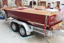 Historic Australian Hammond clinker speedboat,