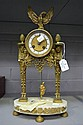 Antique French Empire style clock, approx H:41cm,