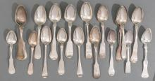 (26) ASSORTED FOREIGN & AMERICAN EARLY COIN SILVER SPOONS