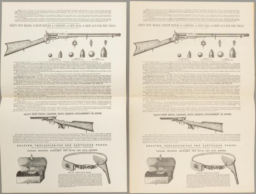 3) Printed Colt's Price List