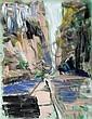 Sigrid Kopfermann; 'Straßen und Baum', 1986, Sigrid Kopfermann, Click for value