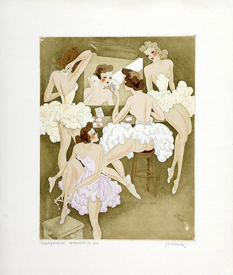 Kurt Hilscher; Revue- und Balletttänzerinnen, um 1920