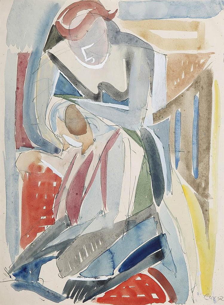 Ernst Wille, 'Zwei Frauen (Kopfwaschen)', 1952