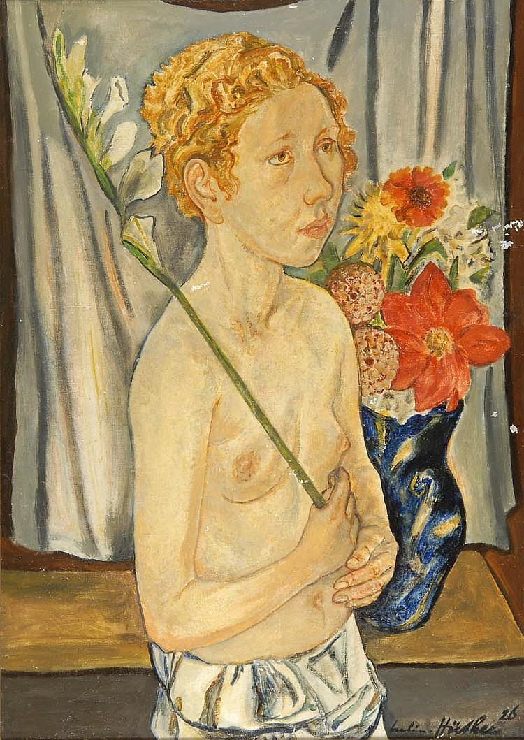 Julius Hüther, Mädchen mit Lilie, 1926