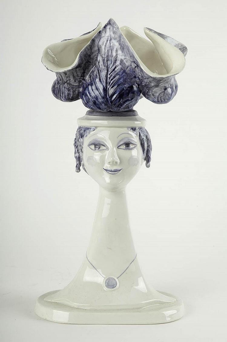 Bele Bachem, 'Büste mit Salatkopf (Daphne)', 1976