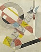 Karl Hermann Haupt, Geometrische Komposition, um 1925, Karl Hermann Haupt, Click for value