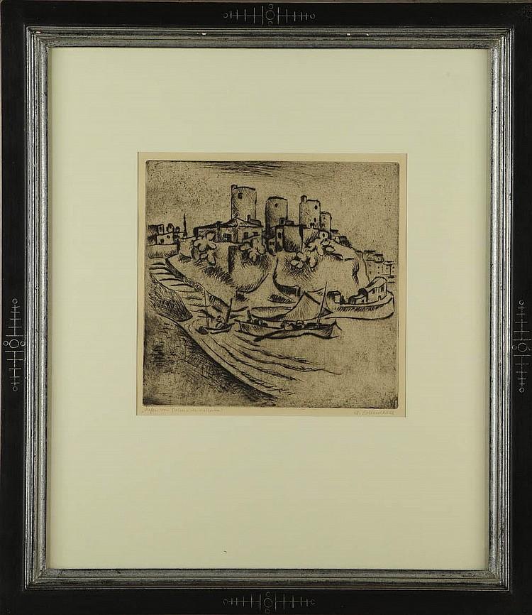 Eduard Dollerschell, 'Hafen von Palma de Mallorca', um 1925