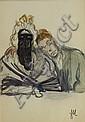 Jeanne Mammen, Mann mit maskierter Dame, um 1925, Jeanne Mammen, Click for value