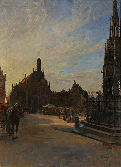 Fritz Genutat, Market place in Nuremberg, 1921