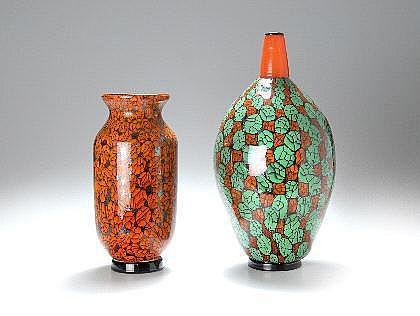 Ferro, Vittorio Vase, um 2000 Farbloses Glas,