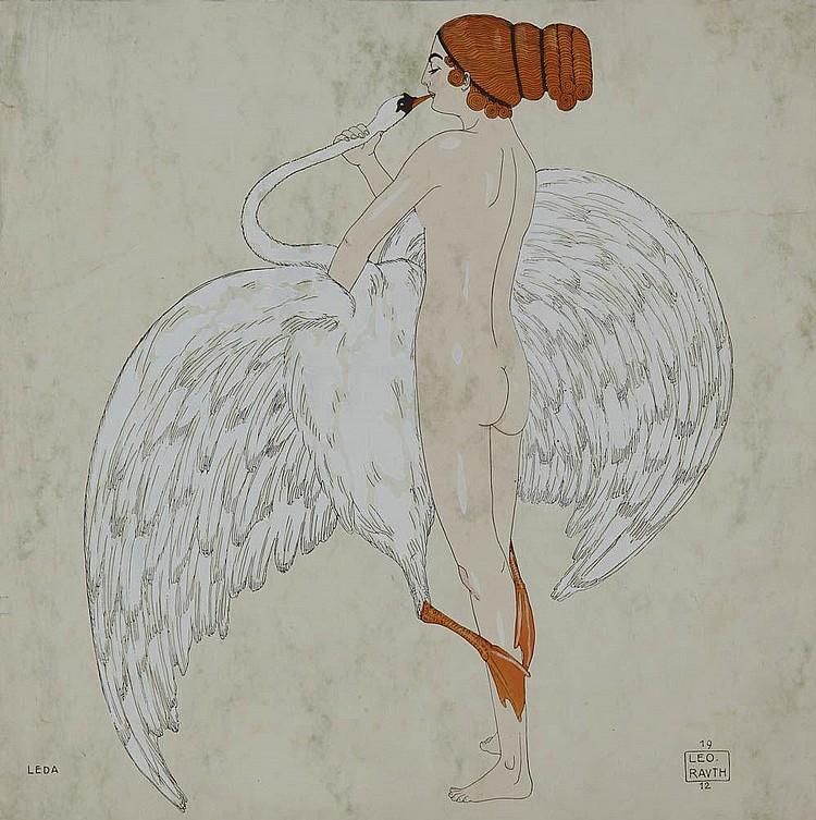 Leo Rauth, Leda und der Schwan, 1912