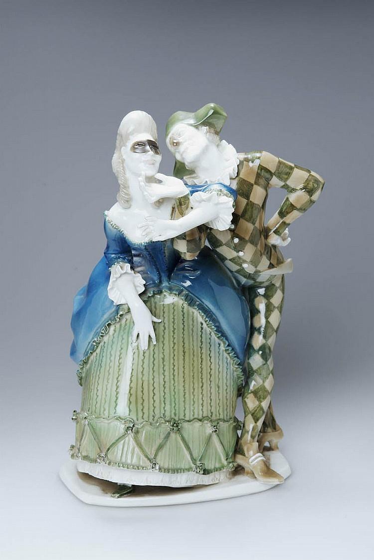 Joseph Wackerle, 'Pierrot und Pierrette', 1906