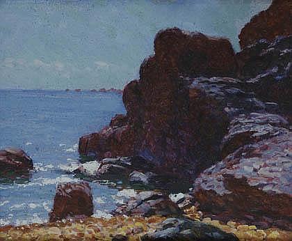 Hans Christiansen, 'Küste gegenüber der Insel Bréhat/Bretagne', 1911