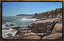 Joel Babb  (1947-)  - After the Hurricane, Monument Cove, MDI, Maine