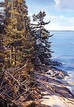 Joel Babb (1947-) – On Hardwood Island, Blue Hill Bay, Maine