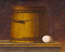 David Brega (1948 -) – Still Life with Yellow Bucket and Egg