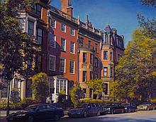 Joel Babb (1947-) - Quiet Afternoon, Back Bay, Boston