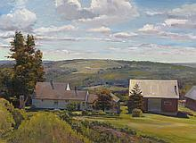 Joel Babb (1947-) – Farm on North Hill, Buckfield, Maine