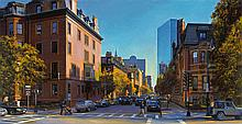 Joel Babb (1947-) – Beacon and Clarendon, Afternoon Light