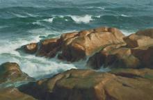 Donald Demers  (1956-)  - Bass Rocks, Gloucester, Massachusetts