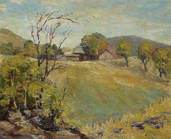 Vivian Walker (1903-1972) The Sloping Meadow