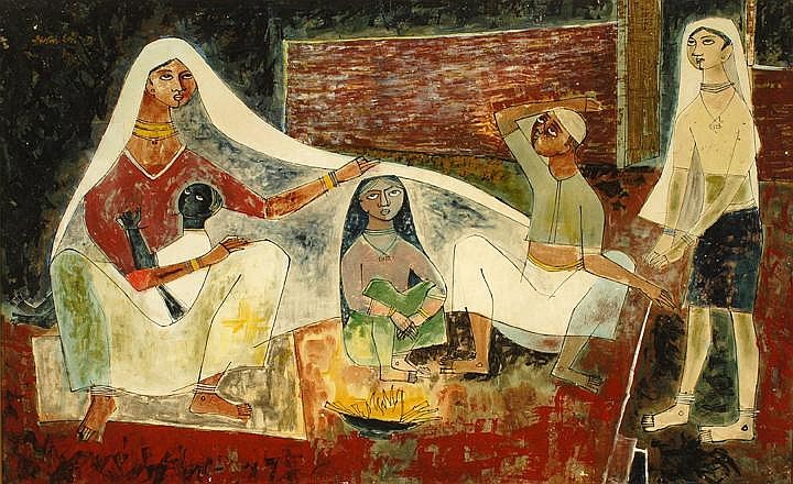 Shanti Dave - Born 1931, Indian