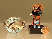 Miniature Kachina & Fetish Bowl