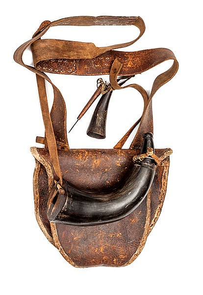 "A rare american revolutionary period rifleman s ""hunting bag"