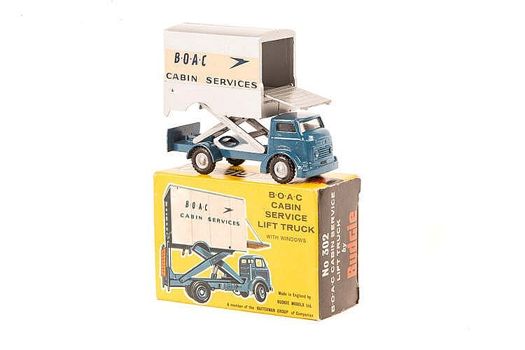 BUDGIE No 302 BOAC CABIN SERVICE LIFT TRUCK TRANSFERS//DECALS